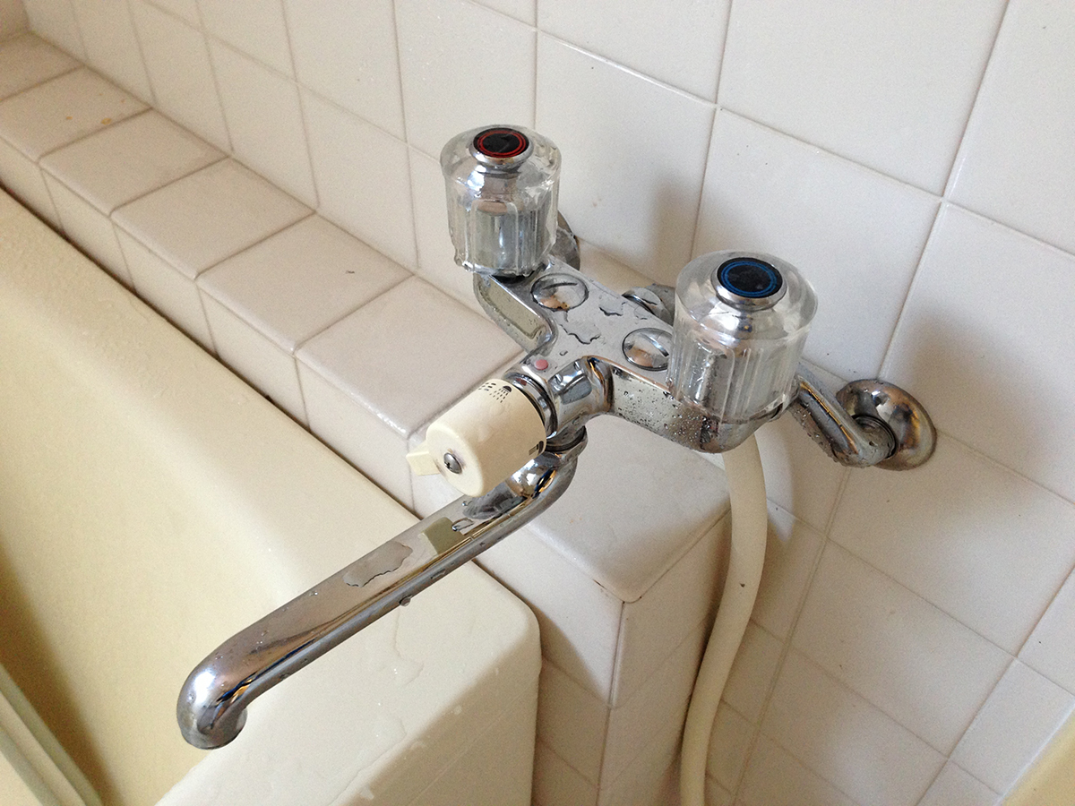 浴室蛇口 after