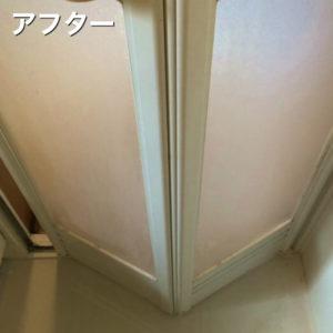 浴室洗浄後の扉