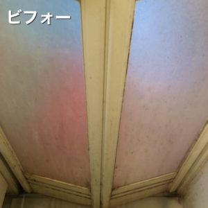 浴室洗浄前の扉